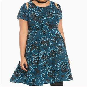 Torrid blue floral dress